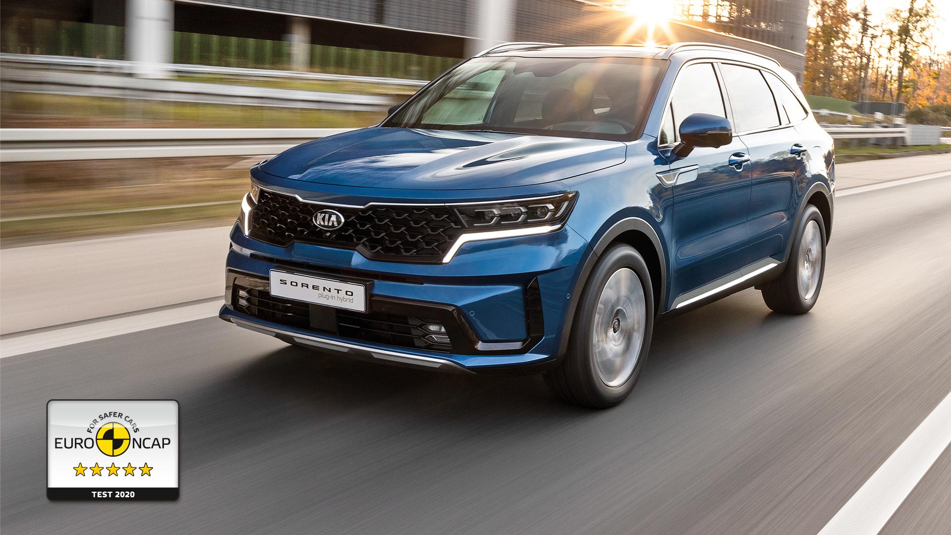Новый KIA Sorento получил высший рейтинг безопасности Euro NCAP